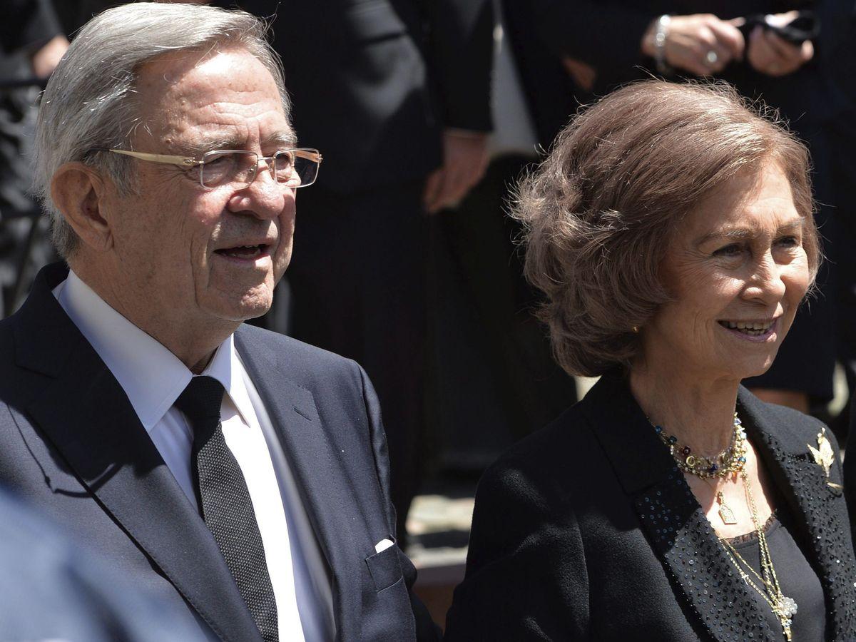 Foto: El rey Constantino, junto a la reina Sofía. (EFE)