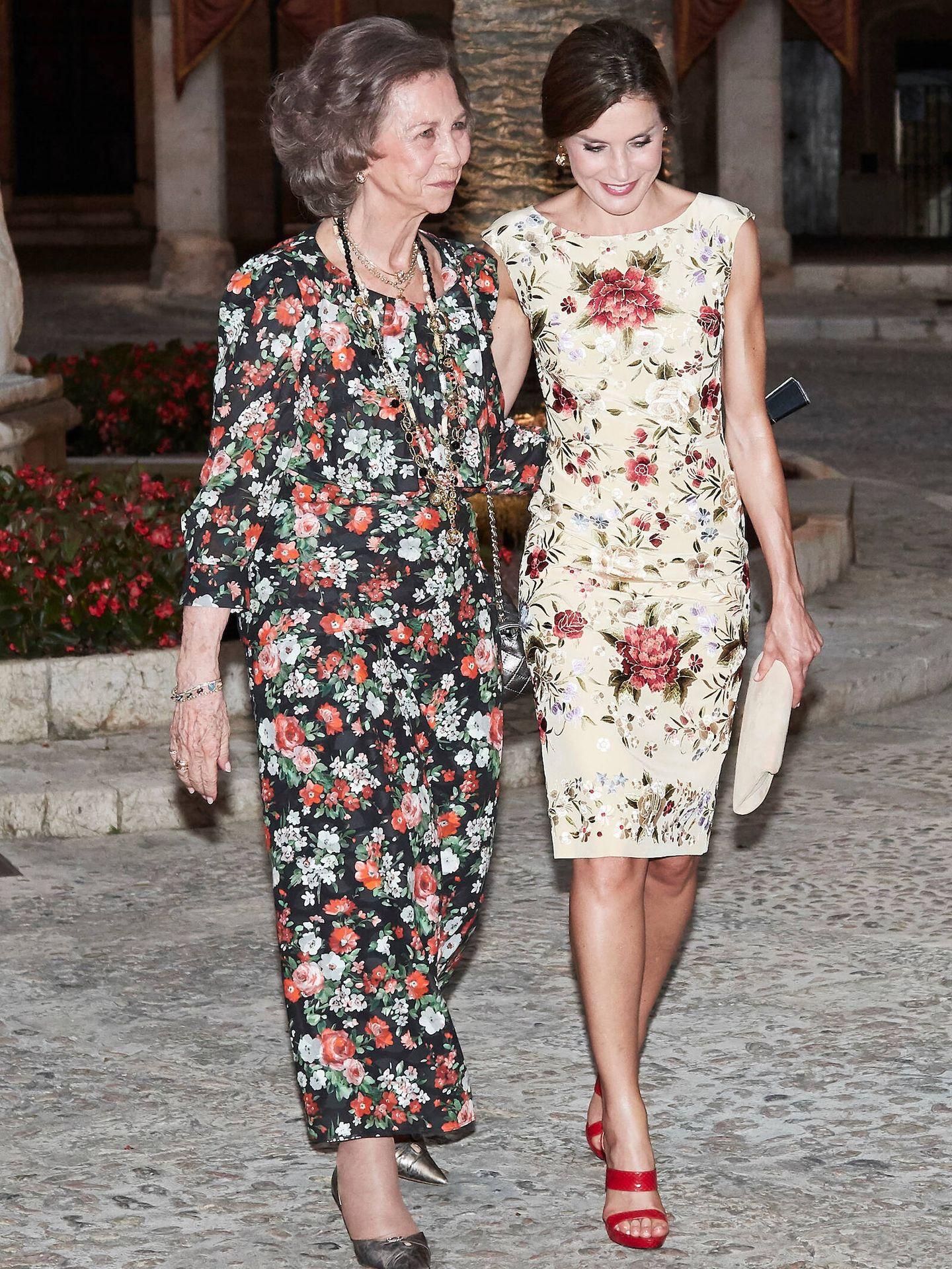 Junto a la reina Sofía, en la Almudaina. (Limited Pictures)