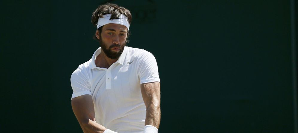 Foto: Roberto Bautista, durante su partido contra Nikoloz Basilashvili (Reuters)