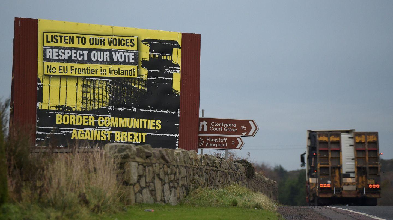 La frontera entre irlanda e Irlanda del Norte, en Jonesborough. (Reuters)