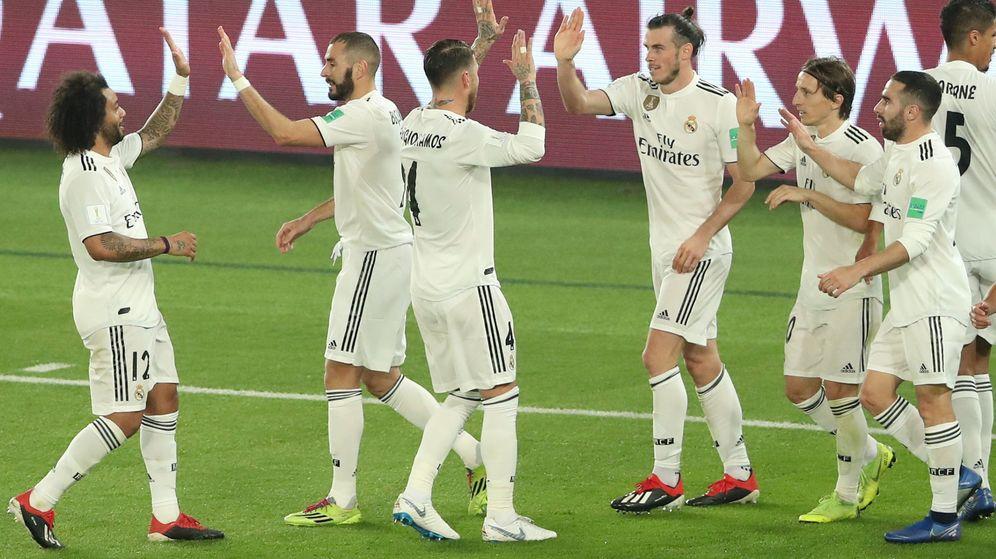 Foto: El Real Madrid durante la semifinal del Mundial de Clubes. (Reuters)