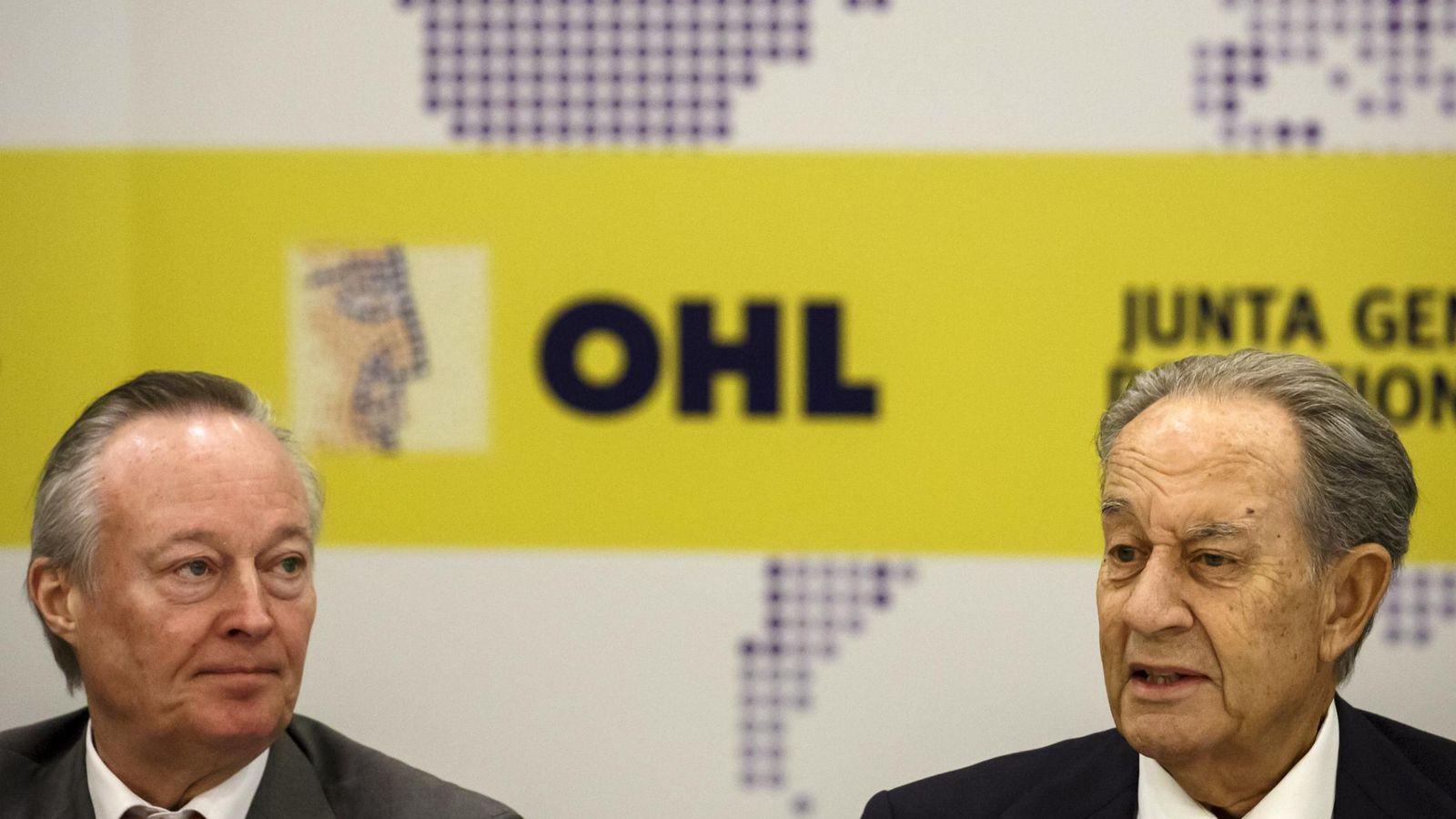 Foto: Josep Piqué, consejero delegado de OHL, y Juan Miguel Villar Mir, presidente