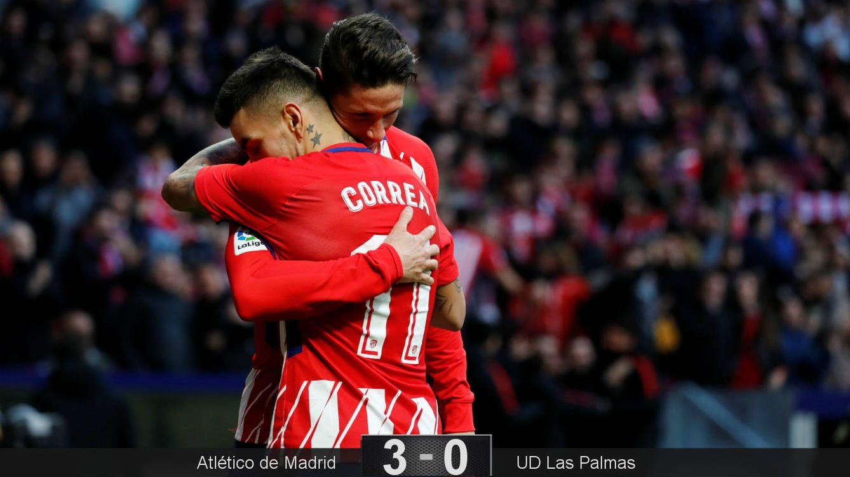Foto: Correa y Torres celebran el gol del '9'. (Reuters)