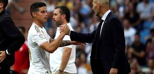 Post de Zidane - James: borrón y cuenta nueva tras una conversación entre ambos