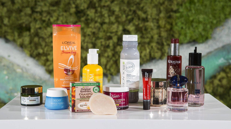 Varios de los productos sostenibles elaborados por L'Óreal.