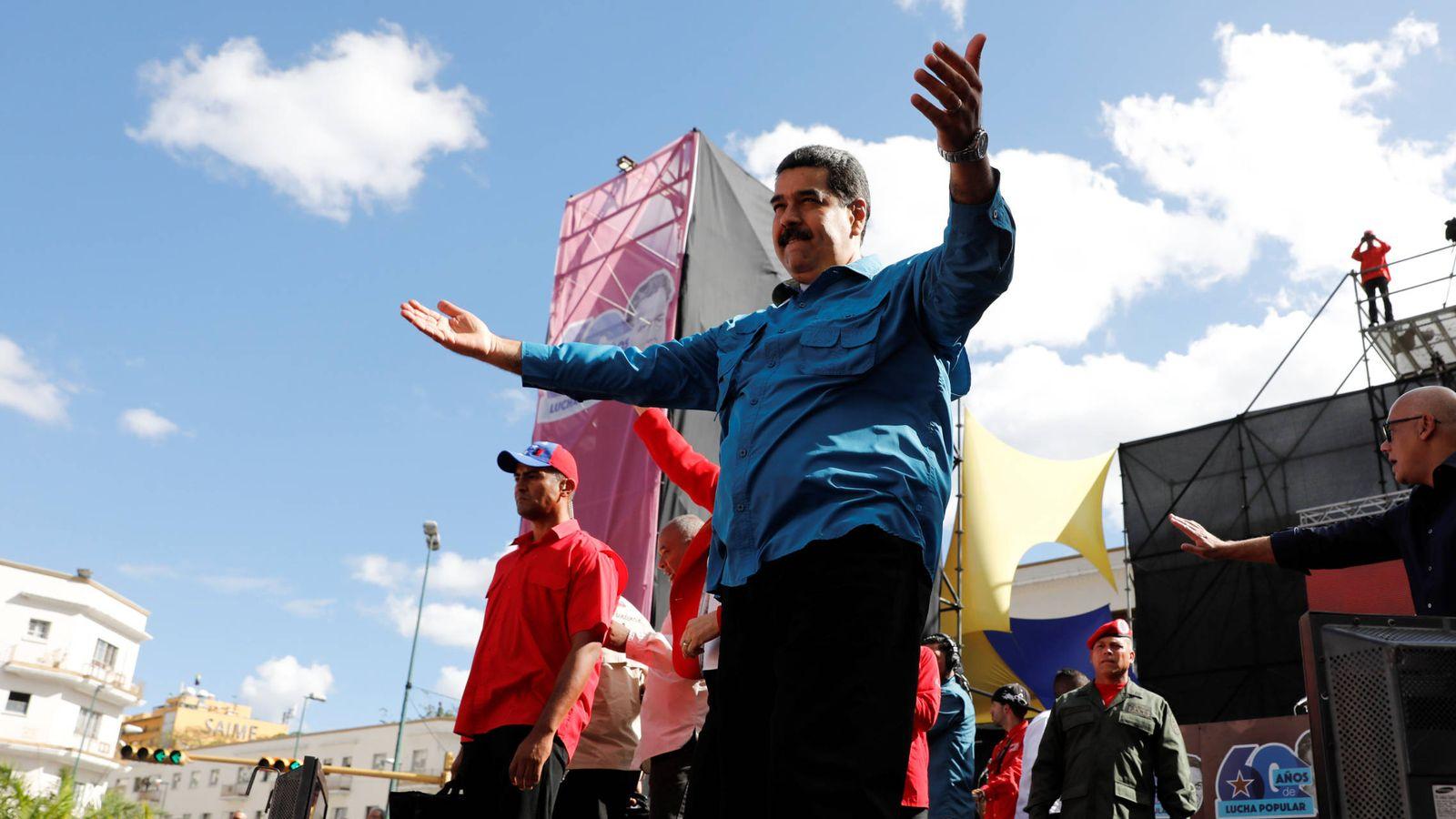 Foto: El presidente de Venezuela, Nicolás Maduro, saluda a su llegada a una ceremonia en Caracas. (Reuters)