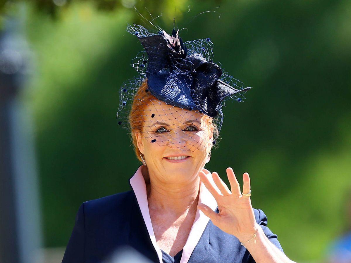 Foto: Sarah Ferguson, en la boda del príncipe Harry con Meghan Markle. (Getty)