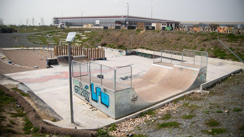 Un 'skatepark', en los alrededores del polígono. (Carmen Castellón)