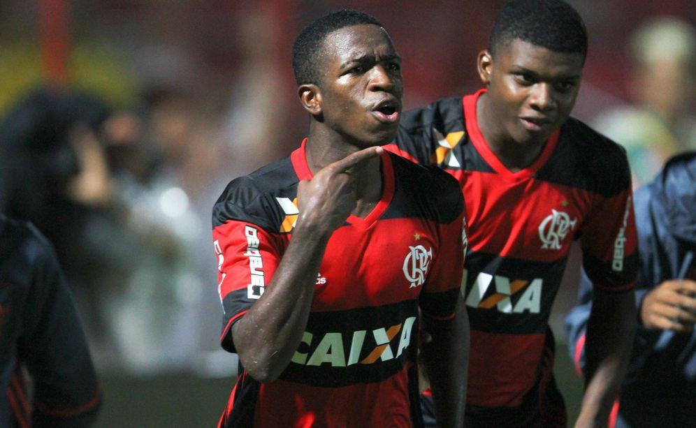 Foto: Vinicius Junior, durante un partido con el Flamengo. (Cordon Press)
