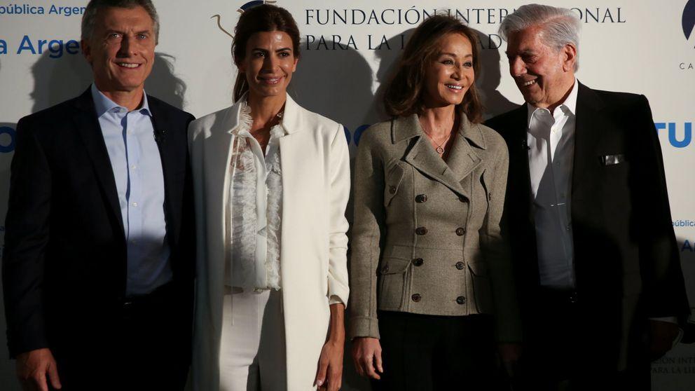 Macri y Awada se reúnen también con Mario Vargas Llosa e Isabel Preysler