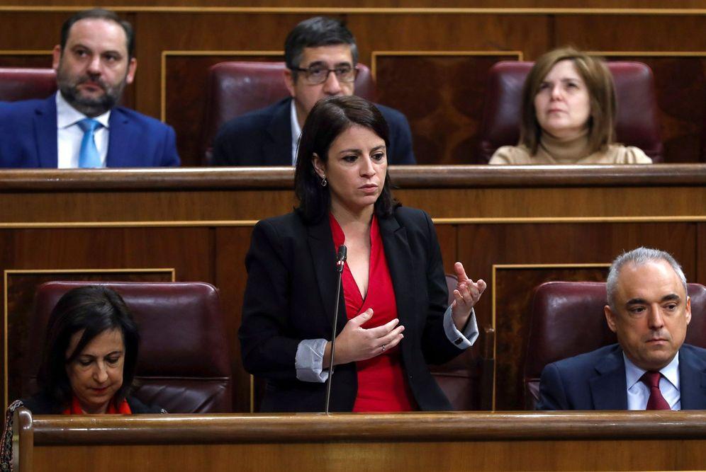 Foto: Adriana Lastra, vicesecretaria general del PSOE y portavoz de su partido en la comisión territorial. (EFE)