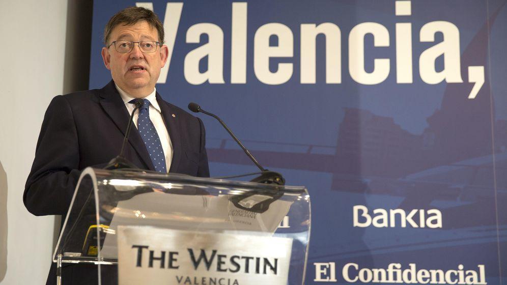 Foto: El president de la Generalitat, Ximo Puig, clausura la jornada 'Valencia, horizonte 2020', en el hotel Westin de la capital autonómica. (Marga Ferrer)