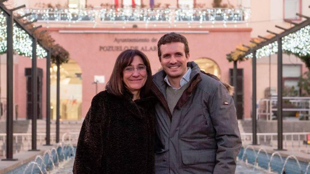 Foto: La alcaldesa Susana Pérez con Pablo Casado en Pozuelo