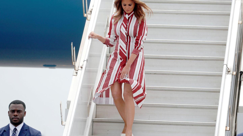 Melania Trump y su vestido de Céline.  (Reuters)