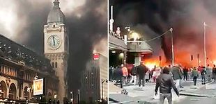 Post de Declarado un espectacular incendio en la estación de tren 'Gare de Lyon', en París