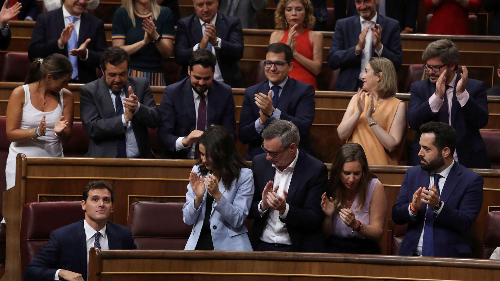 Foto: La nueva bancada de Ciudadanos en el Congreso. (EFE)