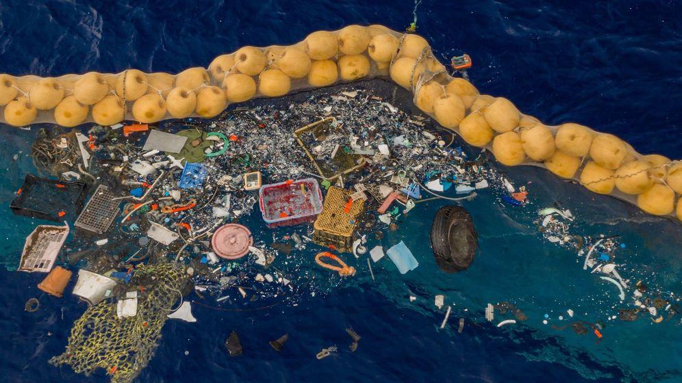 Foto: Basura plástica en el Pacífico. Foto: EFE EPA