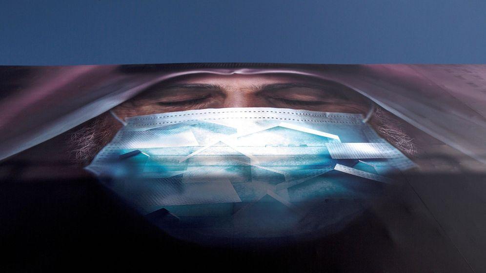 Foto: Vista de un cartel sobre el coronavirus. (EFE)