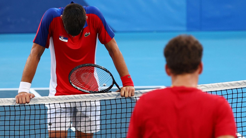Novak Djokovic se irá de Tokio sin ninguna medalla. (Reuters)