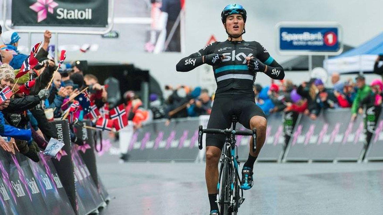 Moscon completó la Vuelta a España siendo gregario de Froome. (@TeamSky)
