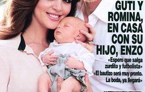 Las maniobras de Guti y Romina para salvar la primera exclusiva de su hijo