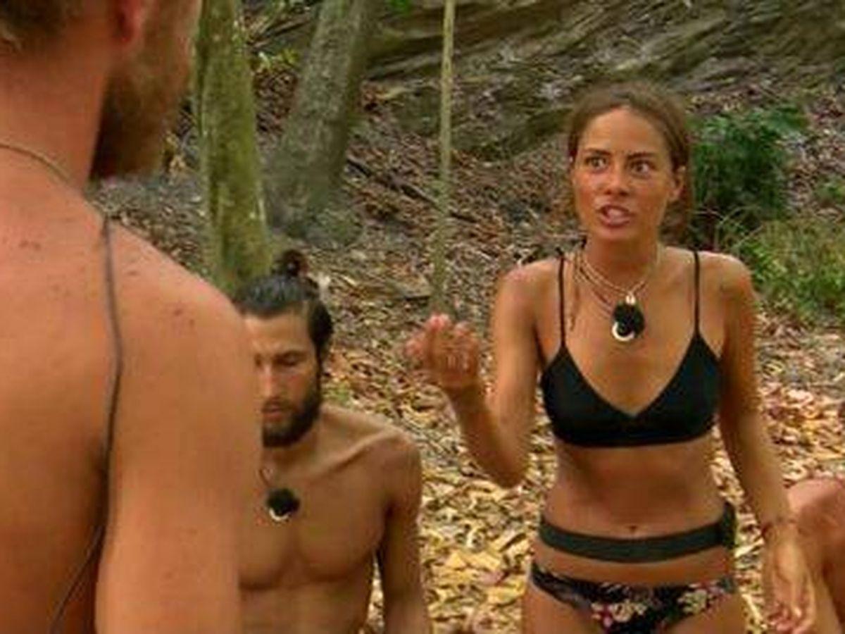 Foto: Melyssa y Tom, en 'Supervivientes'. (Telecinco)