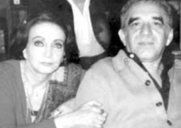 Foto: María Luisa Elío y Gabriel García Márquez
