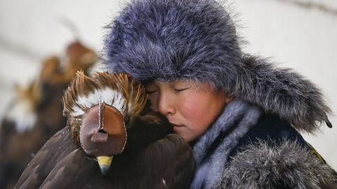 El arte de cazar con águilas en Kazajistán