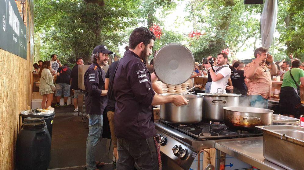 Foto: Así se cocina en un festival.