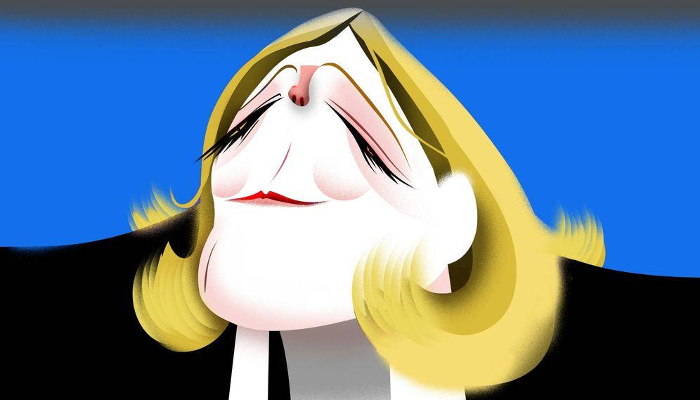 Foto:  Marine Le Pen. (Ilustración: Raúl Arias)