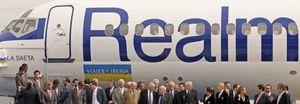 El Real Madrid presenta a 'La Saeta', su nuevo avión oficial, que estrenará para viajar a Roma