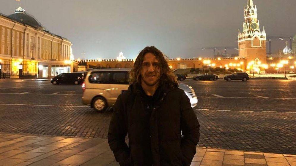 Foto:  Puyol junto al Kremlin en una imagen de su Instagram