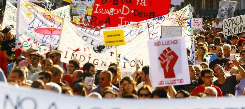 Foto: Manifestación del 15m en alicante