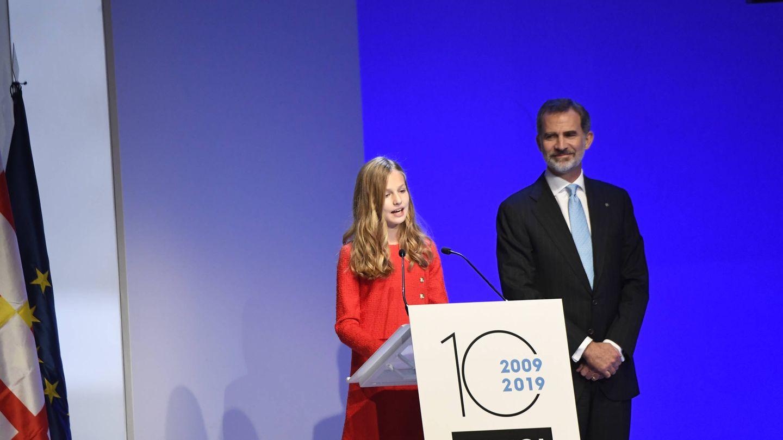 La princesa Leonor, durante su discurso. (Limited Pictures)