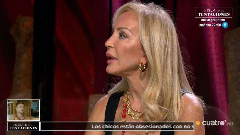 Críticas a Carmen Lomana por su opinión sobre la inseguridad de las chicas de 'La isla de las tentaciones': Hipócrita