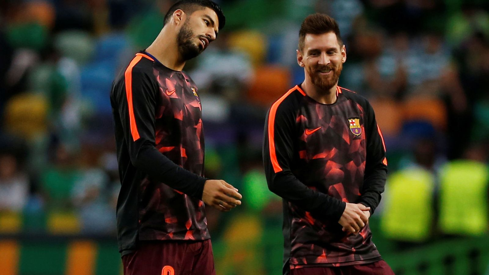 Foto: Suárez y Messi, en Lisboa. (Reuters)