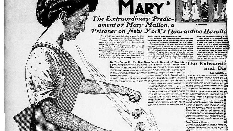 Recorte de prensa de la época sobre Mary la Tifoidea.