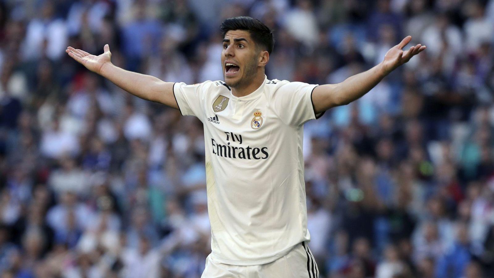 Foto: Marco Asensio, durante un partido del Real Madrid. (EFE)