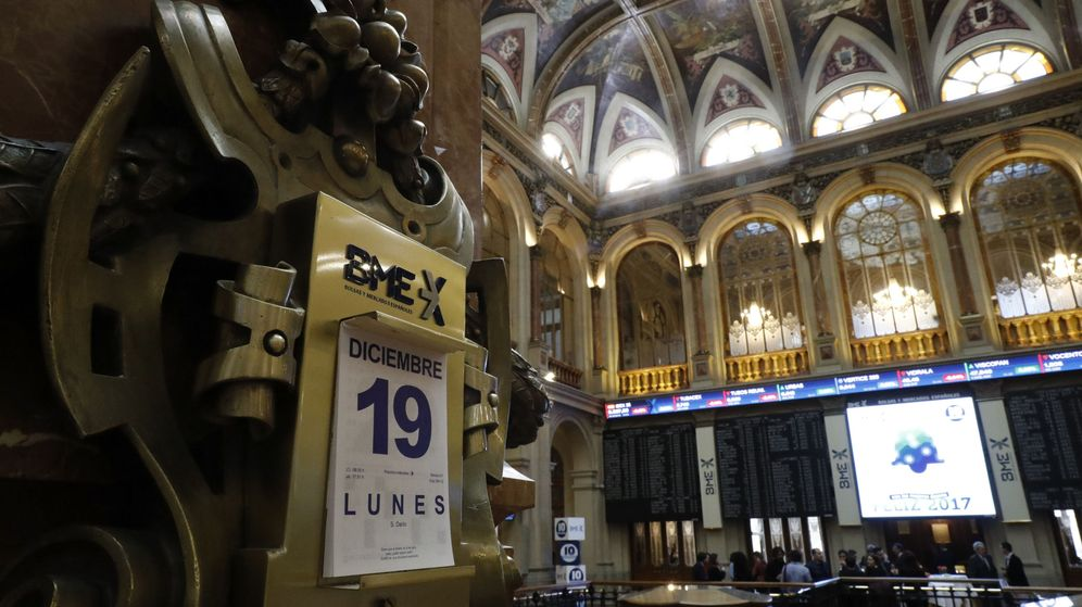 Foto: Parqué de la Bolsa de Madrid este lunes. (EFE)