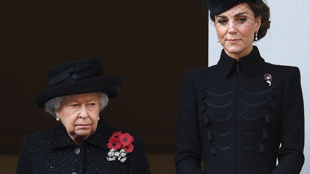 Foto: Kate Middleton, durante el Día del Recuerdo. (EFE)