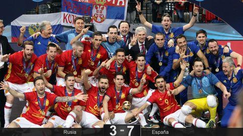 España vuelve a reinar en el fútbol sala europeo después de destrozar a Rusia