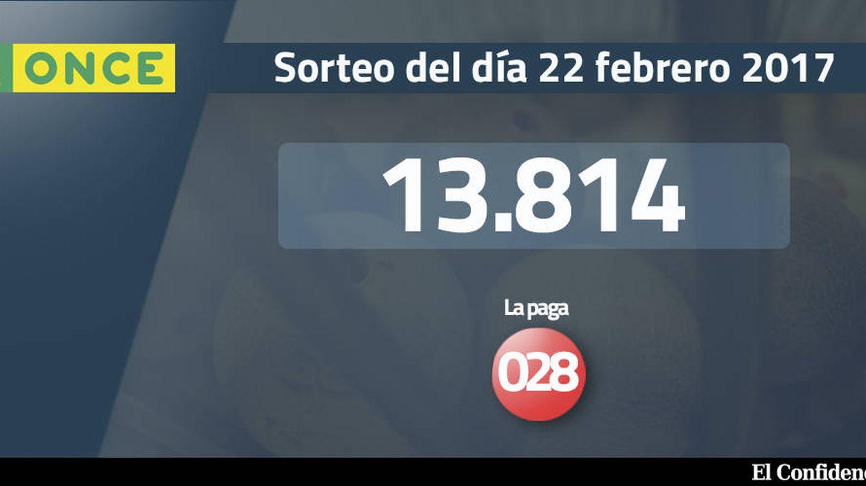 Resultados de la ONCE del 22 febrero 2017: número 13.814