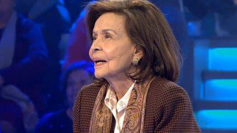 La madre de Isabel Preysler, en su debut televisivo. (Telecinco)