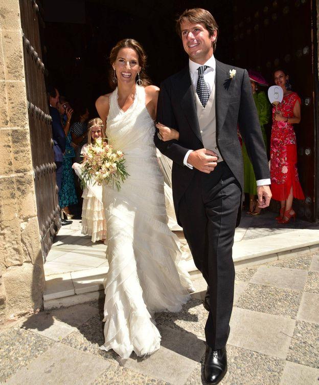 Foto: Carla Vega-Penichet y Carlos Cortina, en su boda jerezana. (CP)