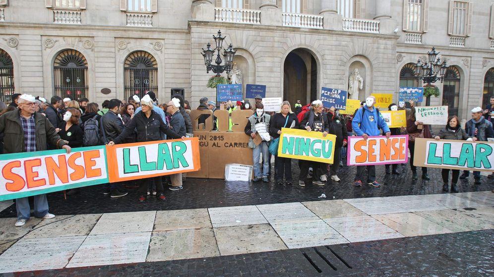 Foto: Acción contra la pobreza en Barcelona. (EFE)