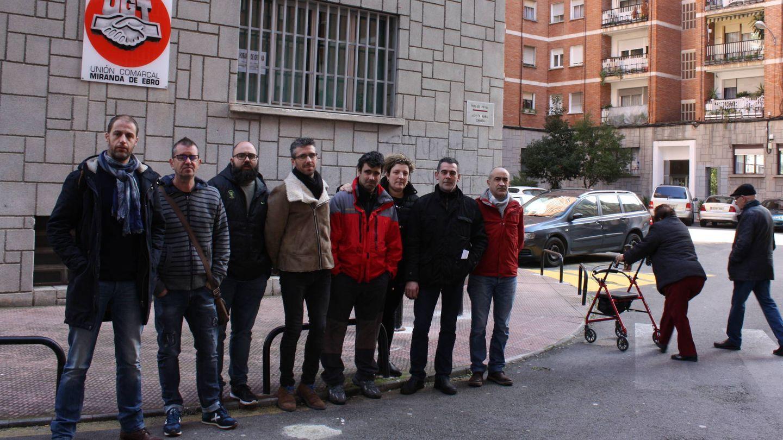 Trabajadores del comité de empresa de Gamesa. (R. M.)
