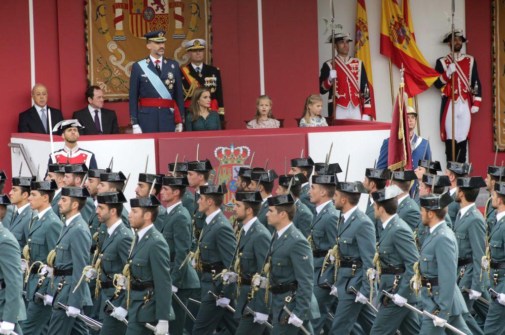 Foto: Desfile de las fuerzas armadas con motivo de la celebración del 12 de octubre.