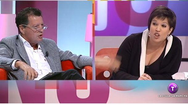 Foto: Alfonso Rojo y Beatriz Talegón tuvieron un enfrentamiento en la televisión pública de Castilla-La Mancha (RTCLM)