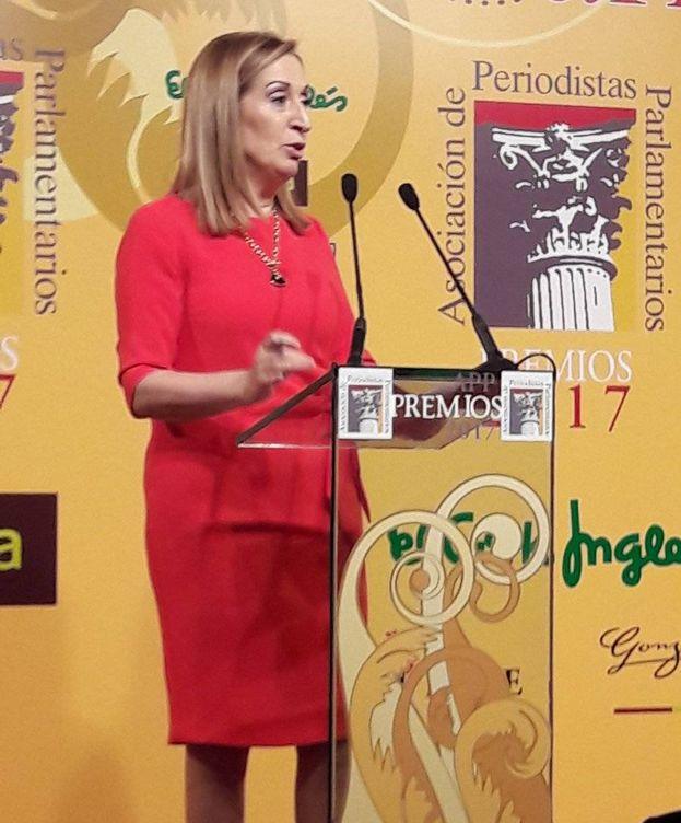 Foto: La presidenta del Congreso, Ana Pastor, durante su intervención. (APP)