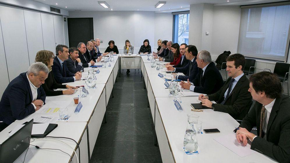 Foto: Reunión de coordinación del PP. (EFE)